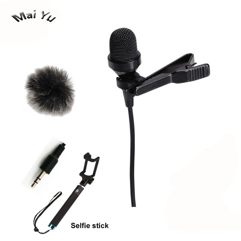 Top Qualität Lavalier Computer Mikrofon Kondensator 3,5mm Stereo Jack Microfone für Wireless System Mikrofon Verstärker PC