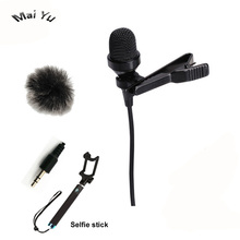 Top Quality Lavalier Computer Microphone Condenser 3.5mm Stereo Jack Microfone for Wireless System Microphone Amplifier PC