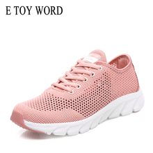 купить E TOY WORD Fashion sneakers women shoes mesh hollow breathable lightweight casual shoes ladies soft bottom women sneakers дешево