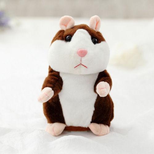 Прекрасный хомяк говорящая мышь плюшевая игрушка для питомца рождественские подарки для детей Высокое качество - Цвет: Dark Brown
