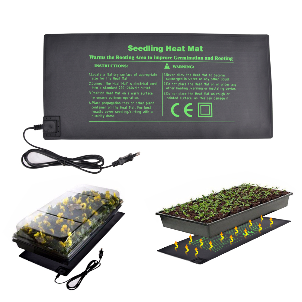 50X24cm US EU Plug Seedling Heat Mat Plant Seed Germination Propagation Clone Waterproof Home Garden Seedling Heat Mat50X24cm US EU Plug Seedling Heat Mat Plant Seed Germination Propagation Clone Waterproof Home Garden Seedling Heat Mat