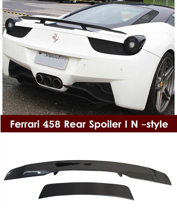 2010-2014 CARBON FIBER GT SPOILER WING FOR FERRARI458  NICE FITMENT & HIGH QUALITY! maserati granturismo carbon spoiler