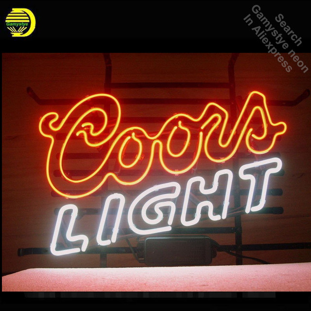 NEON SIGN For Coors Light Double Tubes neon Light Custom Design Restaurant Shop Light Signs neon signs for sale light up signs
