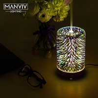 7 Color LED Lamp Holiday Light 3D Decorative Humidifier Oil Diffuser For Office Spa Multicolor Sleeping Aromatherapy Night Lamp