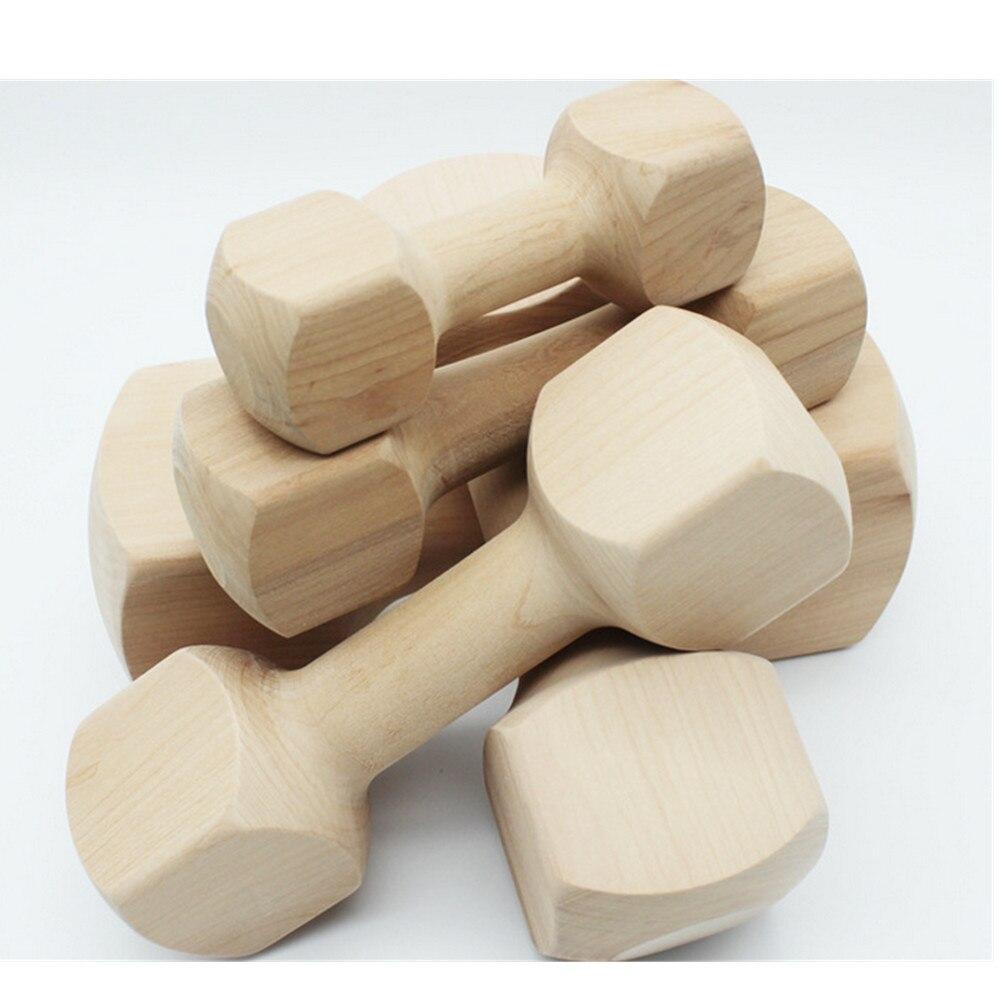 5 pièces Hateli bois massif os haltère chien jouet Pet morsure caoutchouc molaire os morsure résistant jouet - 4
