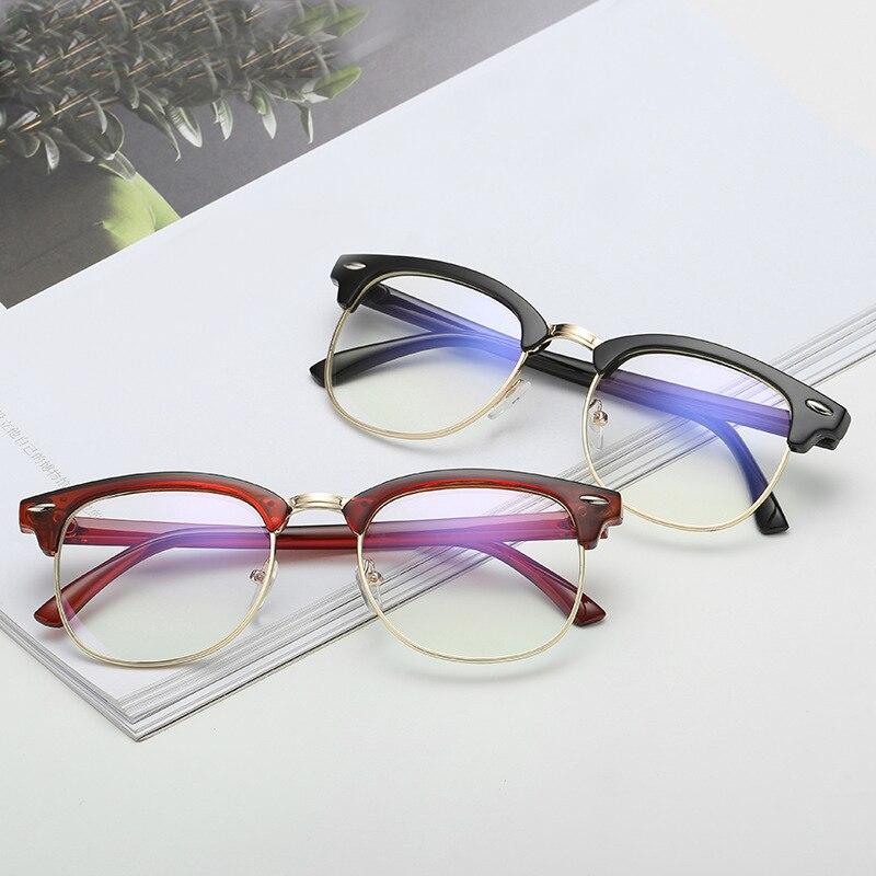 Computer Glasses Blue Light Blocking Glasses Women Metal Eyeglass Frames Men Working Gaming C UV Protection