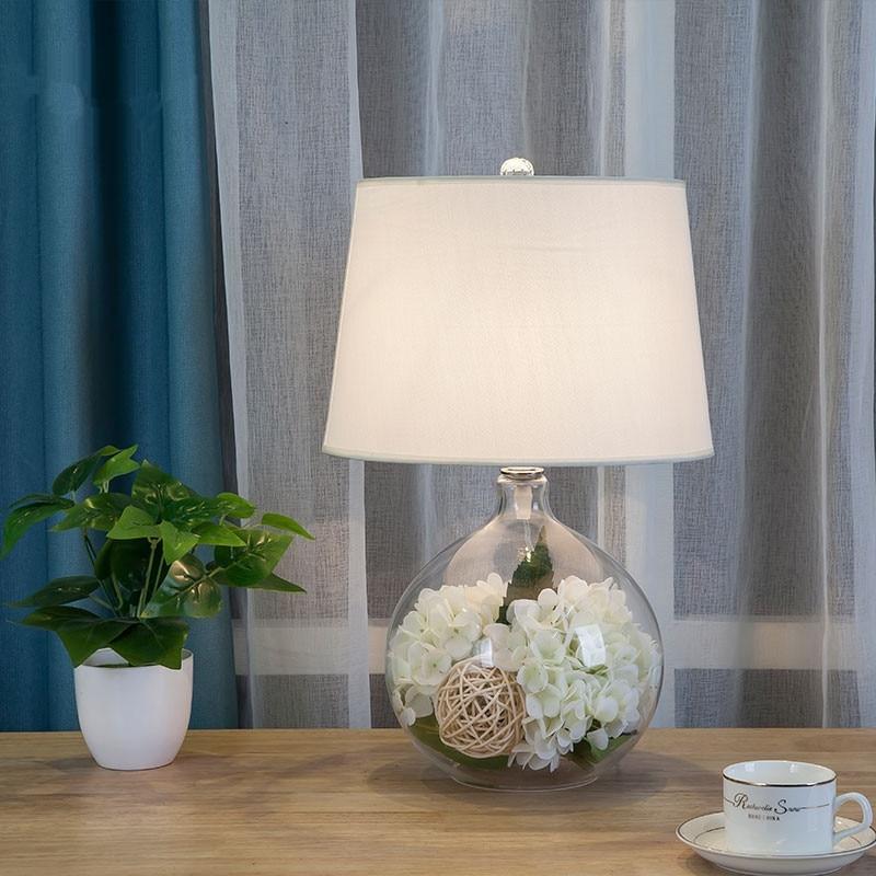 flores decorar cabeceira lampada mesa noite 03