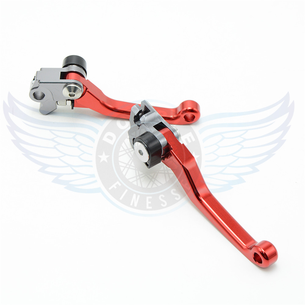 ФОТО new products motorcycle accessories folding Pivot Levers Brake Clutch  cnc red For Suzuki RMZ 250 2004