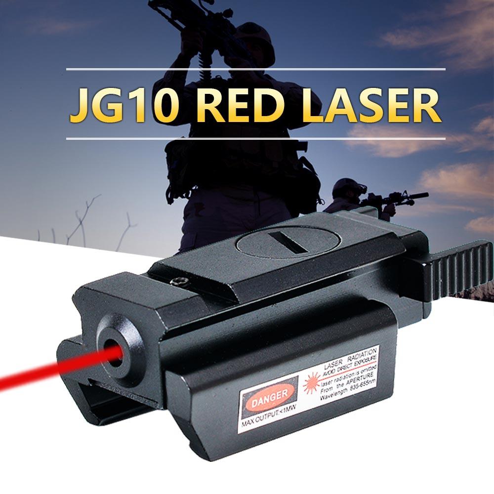 Цена за JouFou Охота JG10 Красный Лазерный Достопримечательности Винтовка Оптика Picatinny Рельса ткача 20 мм Гора Тактический Прицел для Airsoft Shotgun