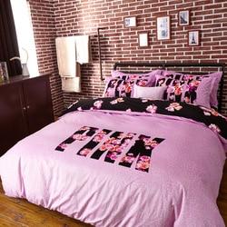 High-end luxo macio cristal veludo tecido roupa de cama versus rosa colcha capa fronha viktorya confortável edredon covet conjunto