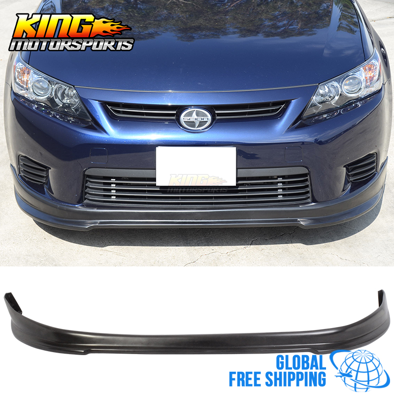 Scion Tc Front License Plate >> For 11 13 Scion tC RS Style Black Front Bumper Lip Spoiler Splitter Urethane PU Global Free ...