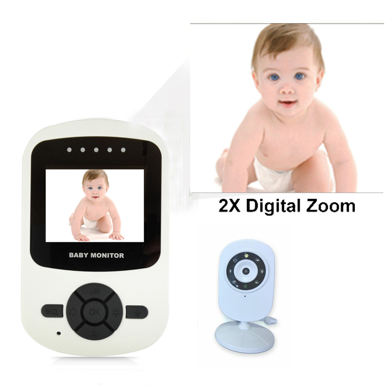 Smart Home Digital LCD Wireless Video Baby Monitor Camera With Infrared Night Vision Two Way Talking And Temperature Monitoring image