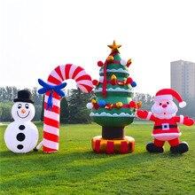 Милые надувные Мультяшные наружные рекламные надувные рождественские украшения для семейного двора художественное украшение Рождественский олень
