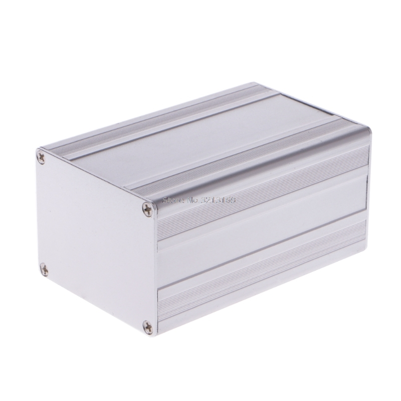 100x65x50mm DIY Aluminum Enclosure Case Electronic Project PCB Instrument Box Dropshipping/323 free shipping abs plastic electronic project case equipment for pcb plastic handheld enclosure diy instrument box 238 134 50mm