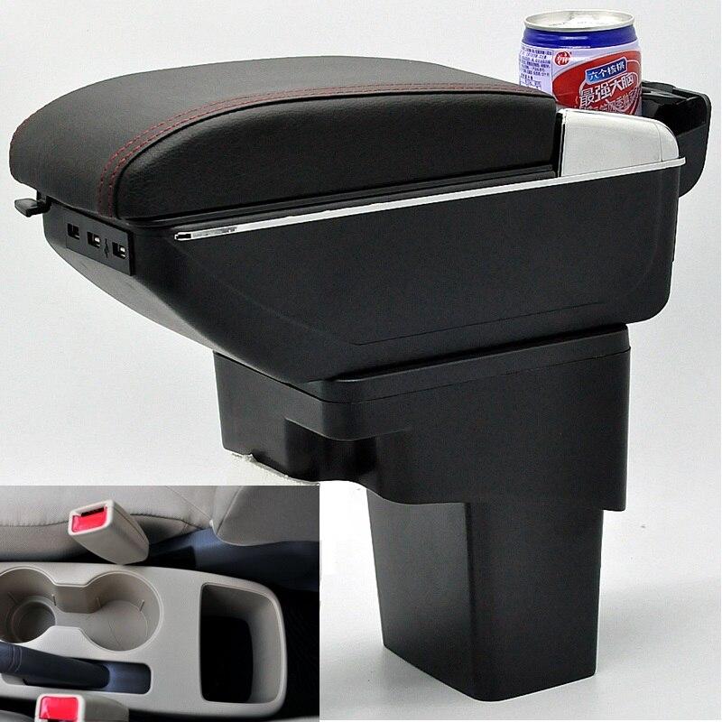 Auto Bracciolo Centrale Storage Box con USB Per hyundai solaris Accent Blu Accent WIT Fluidic Verna Gran Avega dodgo atteggiamento i25