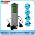 Бесплатная доставка! Профессиональный цифровой диктофон 4 Гб с функцией MP3-плеера + fm-радио