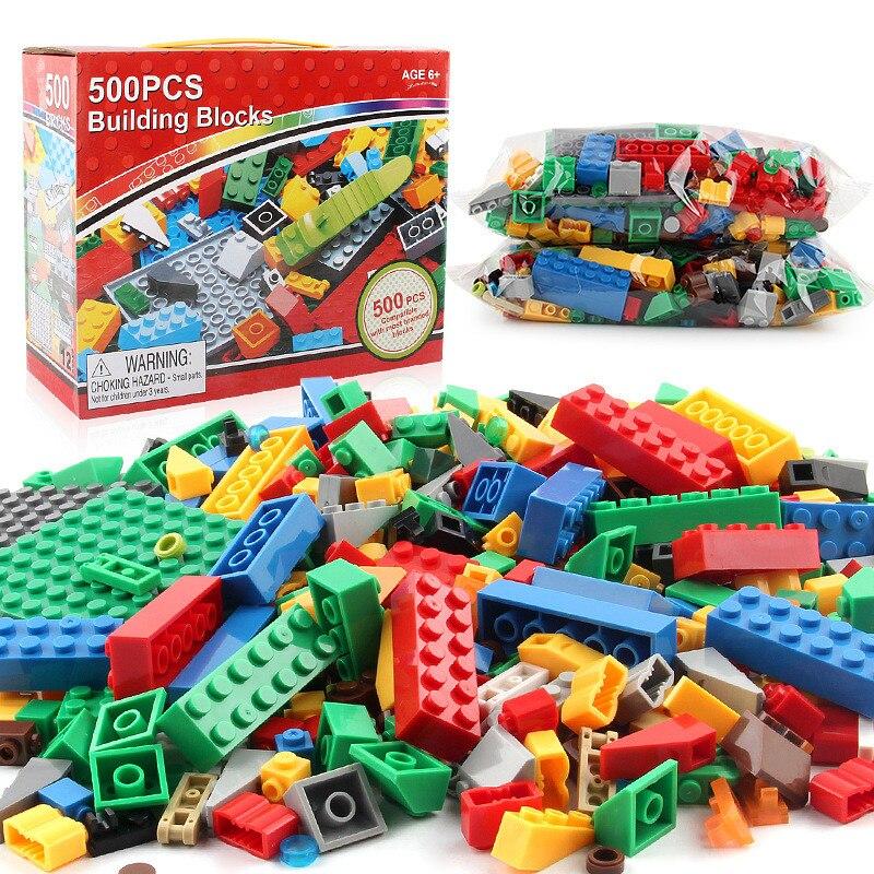 500 Pcs Cidade Criativa DIY Conjuntos de Blocos de Construção Em Massa Criador Compatível Clássico Bricks Brinquedos Educativos para Crianças