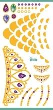 Rocooart Waterproof Flash Tattoo Golden Animal Black Silver Cats Gold Fake Tattoo Glitter Metallic Temporary Tattoo Sticker