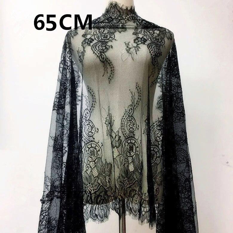 3 mètres de cils blanc et noir dentelle garniture maille dentelle ruban décoration artisanat couture dentelle pour la fabrication de mariage décoration