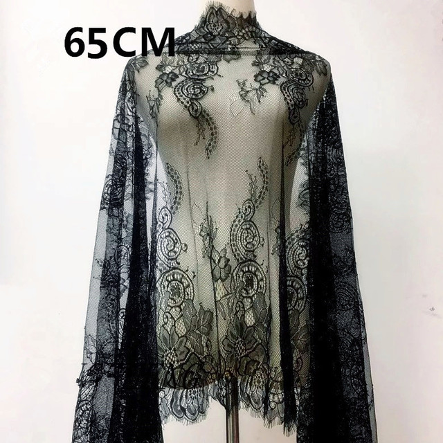 Medidor de 3 Cílios White & Black Lace Malha Guarnição da Fita Do Laço Decoração Artesanato Fazendo A Decoração de Costura Rendas Para O Casamento