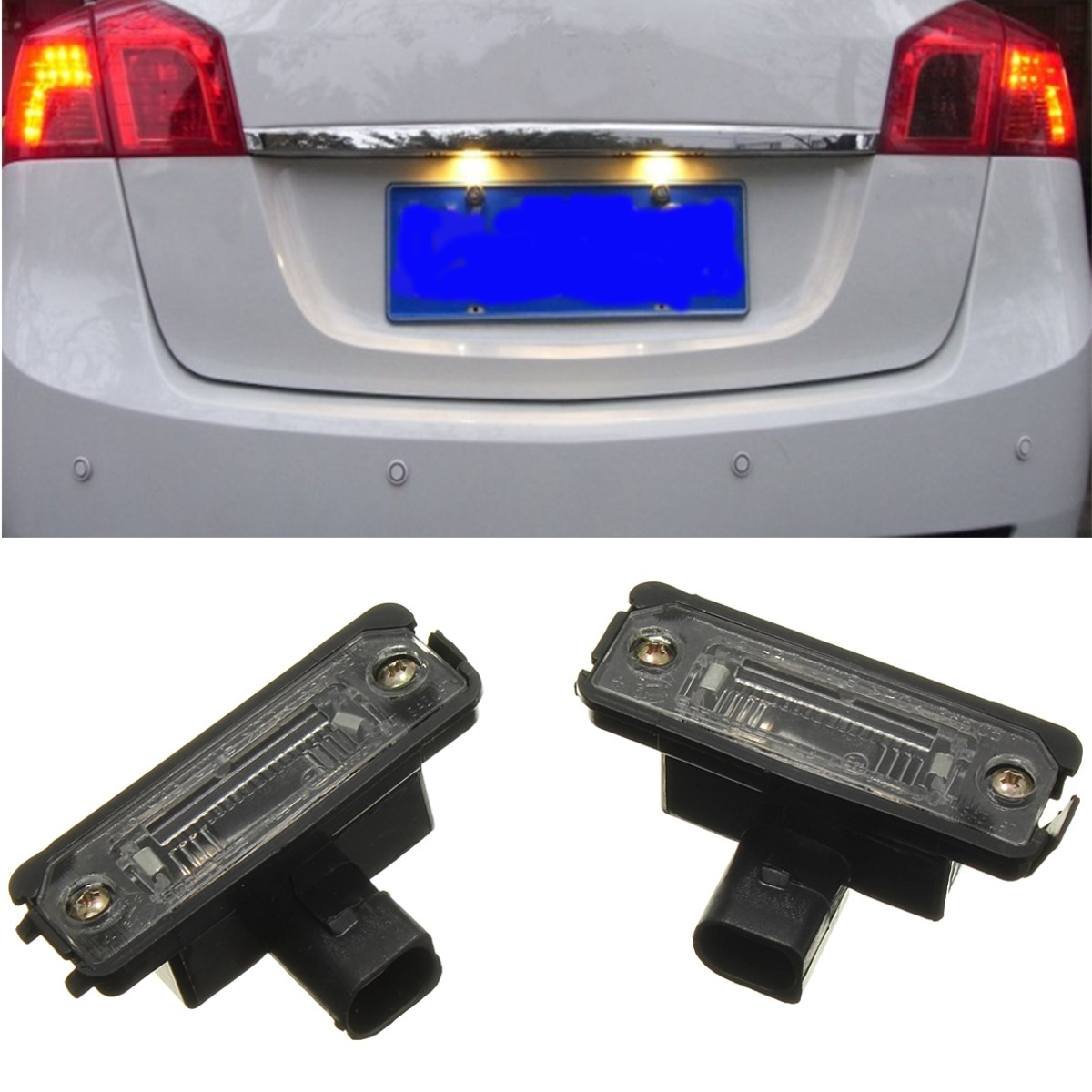 2X Oem License Number Plate Light Lamps For VW Smd LED For Volkswagen Golf 4 5 6 For Jetta For Polo For Passat B6 2x 3smd5050 for volkswagen passat jetta golf plus touran caddy led license number plate light for automotive auto accessories