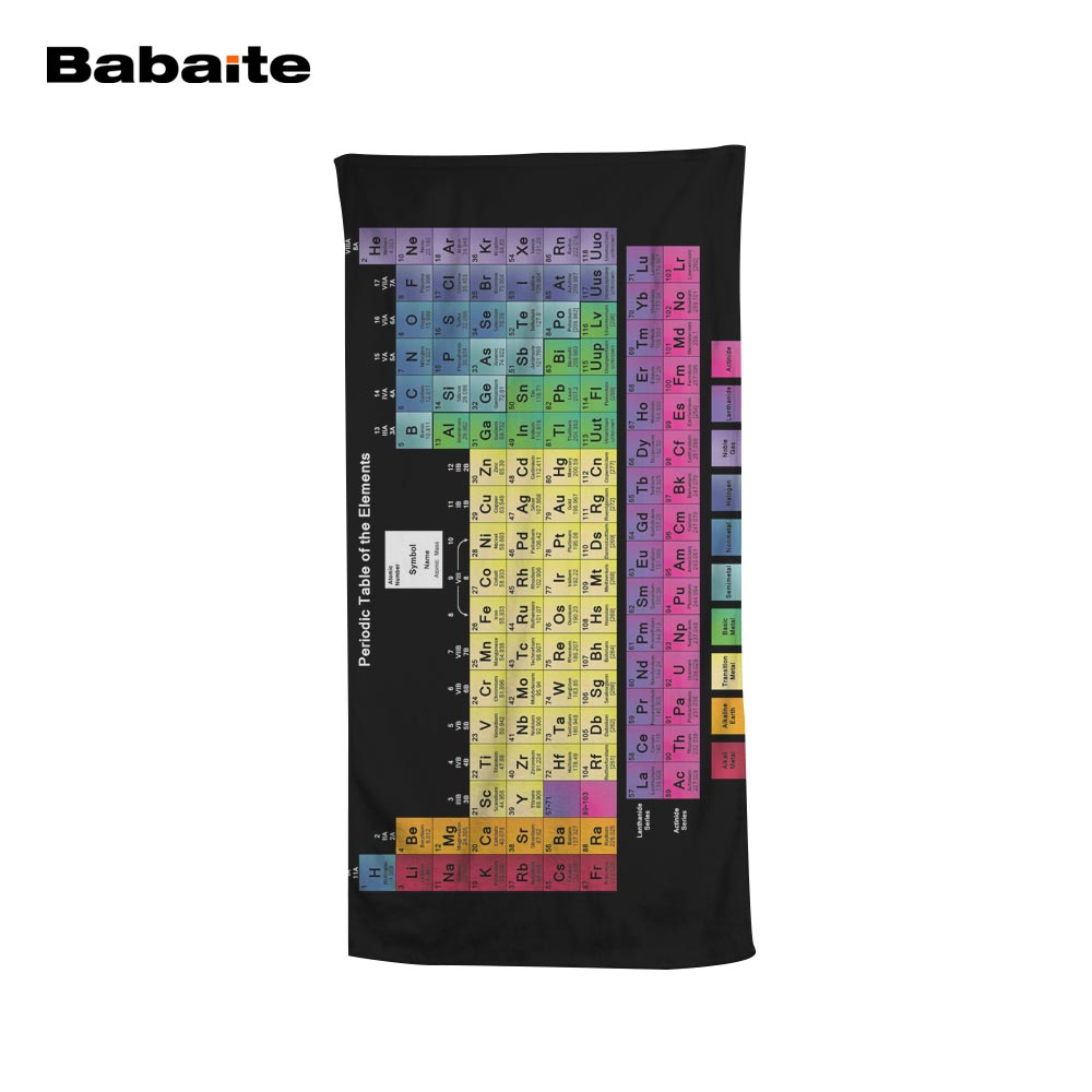 cool beach towels. Babaite Periodic Table Of The Elements Chemistry Mate Cool Beach Towel Bathroom Bath Shower Drying Washcloth Yoga Mat Blankets-in Towels From Home