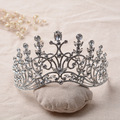 2016 Moda de Cristal Tiaras Atacado Noble Limpar Rhinestone Princesa Diadema tiara Coroa De Casamento Acessórios Para o Cabelo