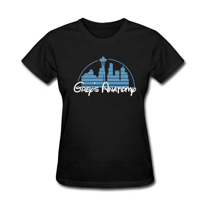 T Shirt Top Crew Neck Greys Anatomy Cotton Crewneck Short Premium Tee Shirts For Women