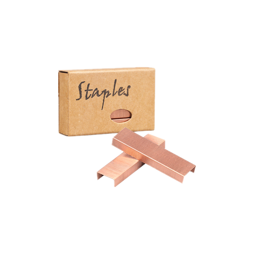 Rose Gold Staples Standard Stapler Refill 26/6 Size 950 Staples Per Box For Office School Stapling Stationery Supplies