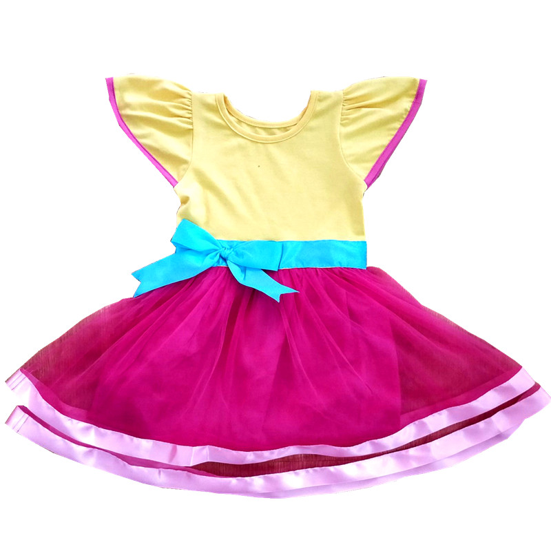 Kids Princess Dress Girl Christmas Fancy Nancy Birthday Christmas Toddler Cosply Party Formal Ball Gown Dress Sundress For 1-10Y fancy nancy pajama day level 1