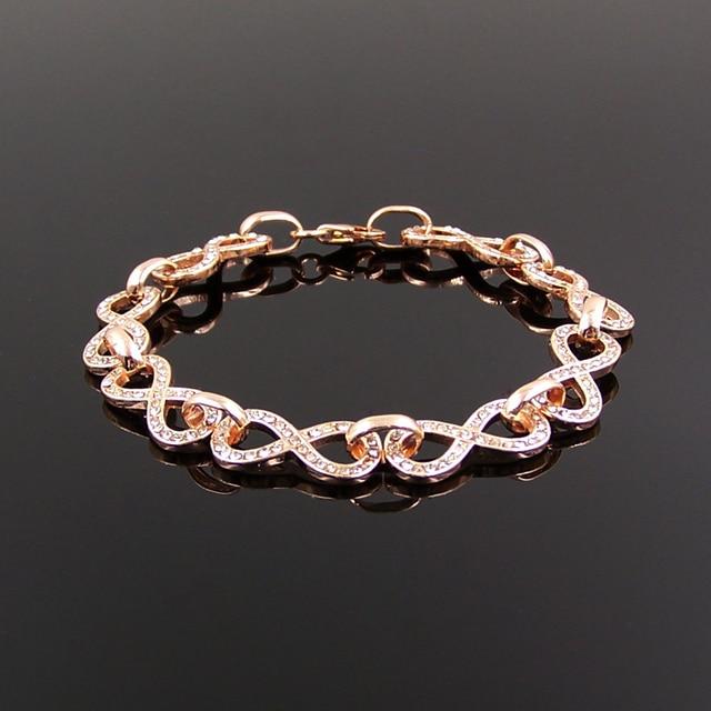 Thomas ouro rosa finamente artesanais símbolo infinito pulseira de prata  coleção eternidade de amor pulseira 66bde3a2b5