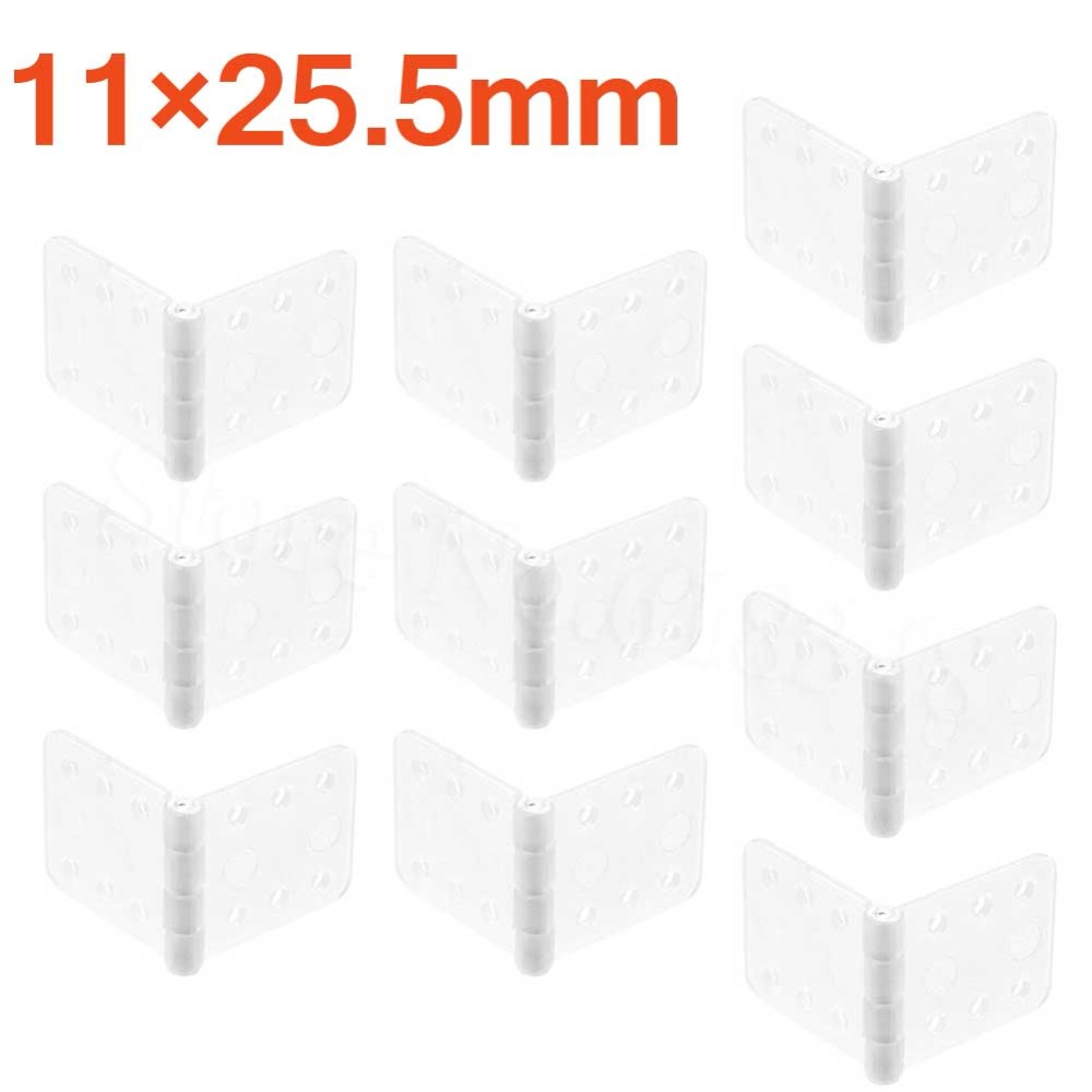 10x Plastic Pinned Nylon Hinges 11x25.5 mm For RC Airplanes Parts Model Replacement