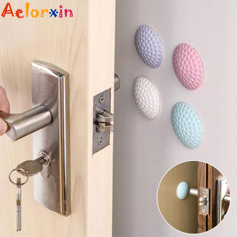 4Pcs/Lot Baby Safety Shock Absorbers Security Rubber Mat Card Protection Door Stopper Child Lock Protection Baby Security