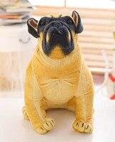 Frete grátis artificial bulldog, Assim como cachorro de verdade, Bonito belo presente cão de pelúcia, No mess bom cão todos os tamanhos para adultos dos miúdos macio