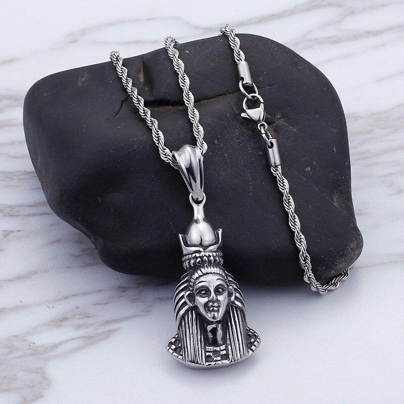 Titanium Steel Egyptian Goddess Pendant New Religion Ancient Egypt Pharaoh Mask Pendant