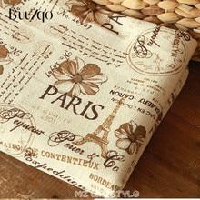Impreso de la torre de París mezcla de lino y algodón de la tela por Metro de Zakka estilo cojín mantel tejido