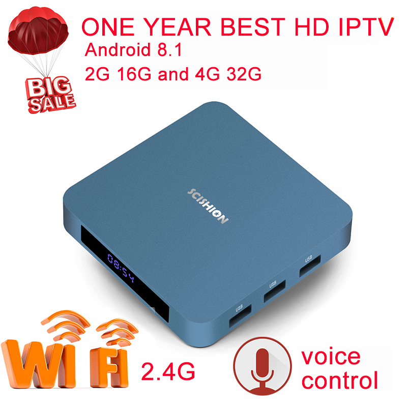 AI ONE Newest Android 8.1 TV Box RK3328 Quad Core 4G/32G 2G/16G Ultra HD 4K 3D Media Player Tvbox WiFi 2.4G with Voice Control