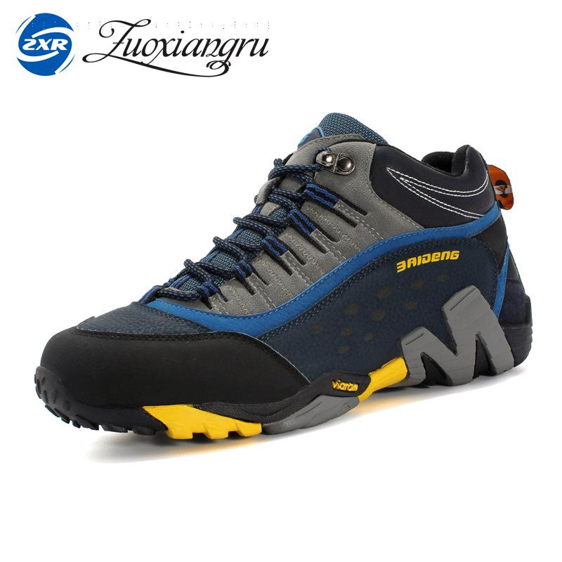 Men Outdoor Hiking Shoes Waterproof Breathable Hunting Trekking Sneakers Shoes Genuine leather sport climbing hiking shoes цена