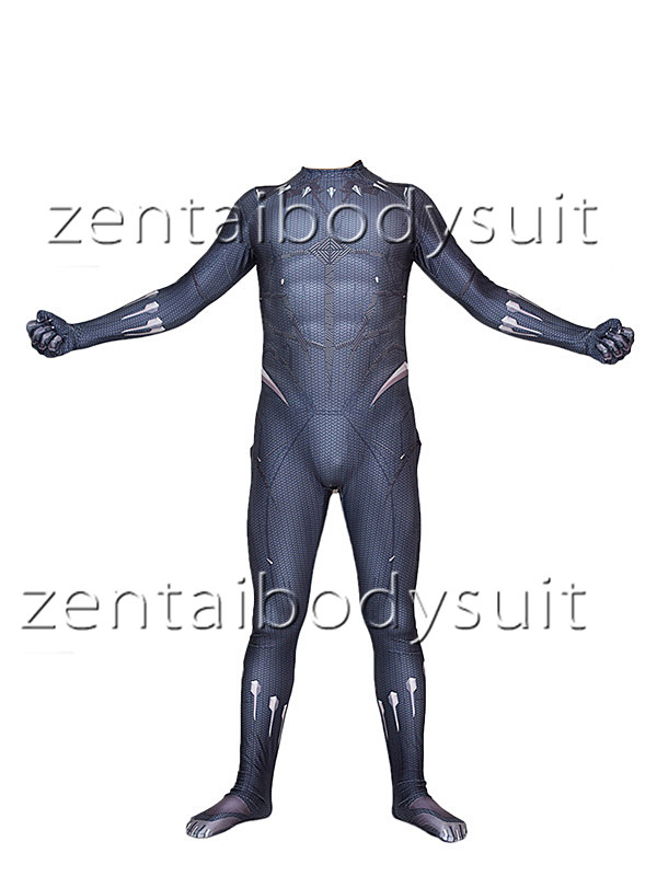 Black Panther 2018 Superhero Cosplay Bodysuit No Mask Spandex Lycra Zentai costume Halloween Party suit free delivery