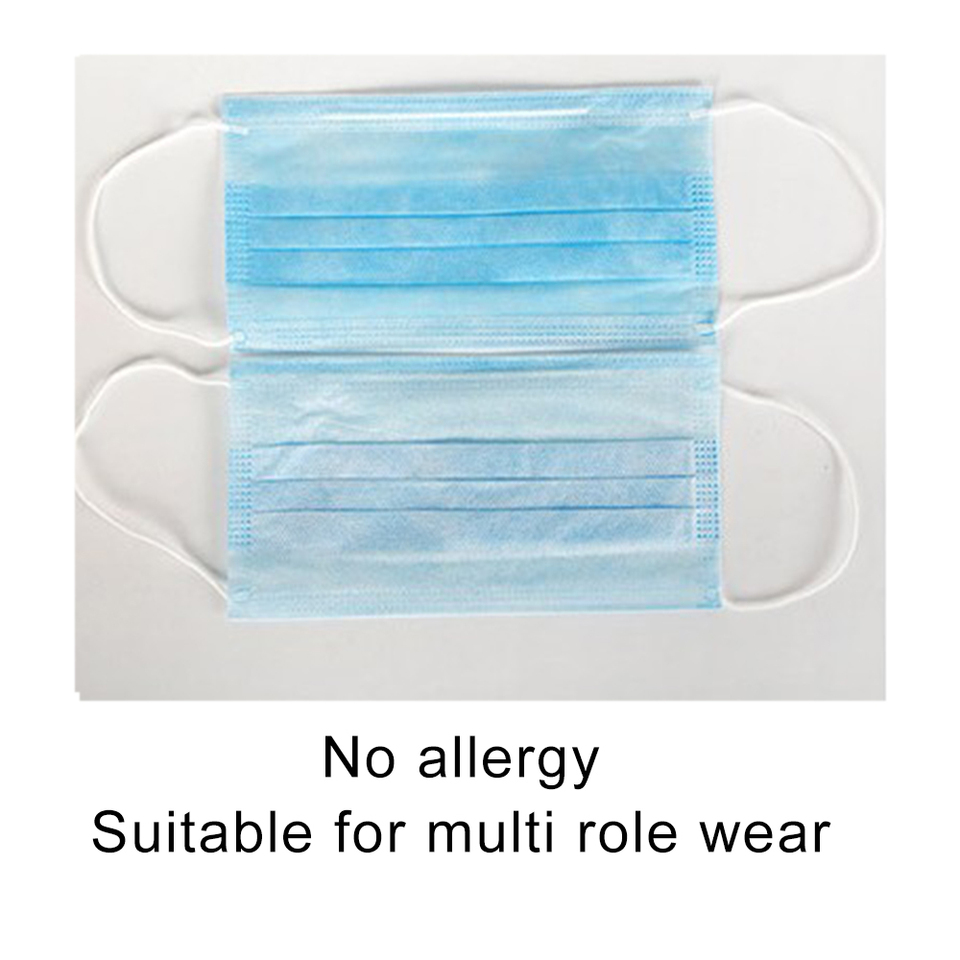 Disposable 50pcs Surgical Facial Anti-dust Dustproof Face Set Earloop Protective 3 Layers Mask Cover Salon Masks