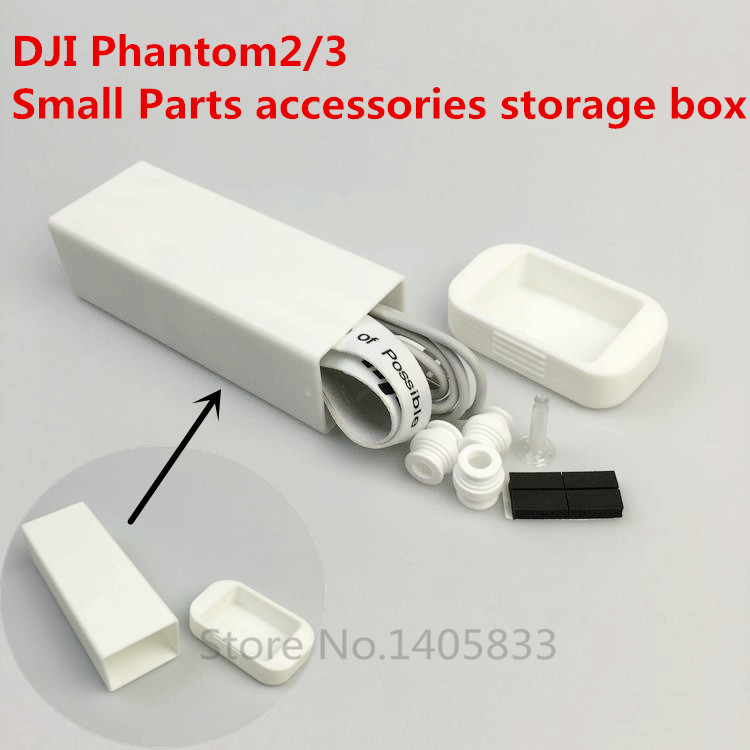 DJI Phantom 3/2 Small Parts accessories storage box Cable Carry Case 3D Printed