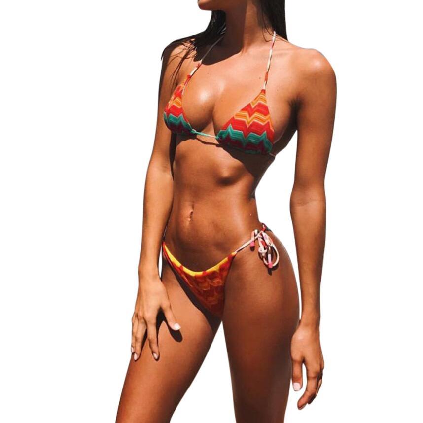snowshine3 YLI Womens Sexy Floral Printed Bikini Push-Up Swimwear Swimsuit Bathing Beachwear free shipping