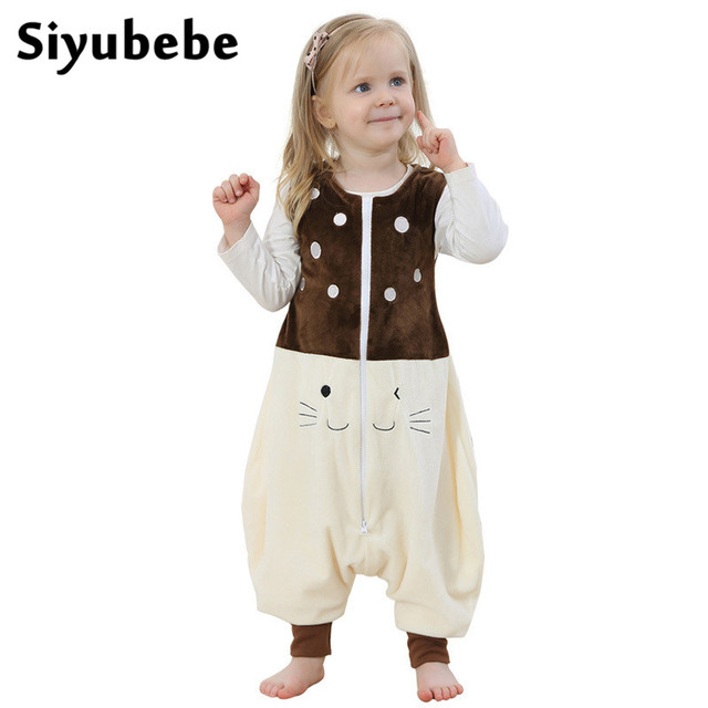 613d18612c63 Spring Summer Baby Sleeping Bag Children Thin Cotton Flannel Pajamas ...