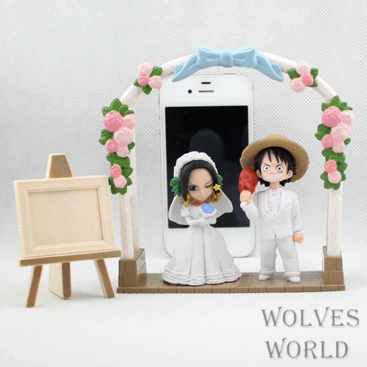 One Piece Monkey D Luffy&Boa Hancock get married PVC Action Figure Collection Toy 8CM Anime new hot 12cm one piece boa hancock monkey d luffy modelling action figure toys collection doll christmas gift with box