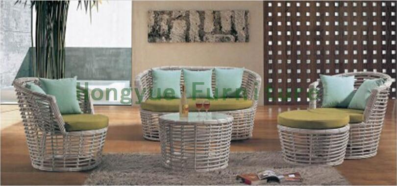 Pe rattan living room sofa,wicker living room sofa furniture 4 pcs pastoralism home indoor outdoor rattan sofa for living room