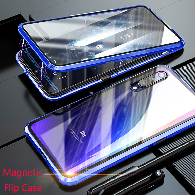 For Xiaomi Mi 9 Mi9 Magnetic Case 360 Front+Back double-sided 9H Tempered Glass Case for Xiaomi 9 Metal Bumper for Xiaomi Mi 9For Xiaomi Mi 9 Mi9 Magnetic Case 360 Front+Back double-sided 9H Tempered Glass Case for Xiaomi 9 Metal Bumper for Xiaomi Mi 9