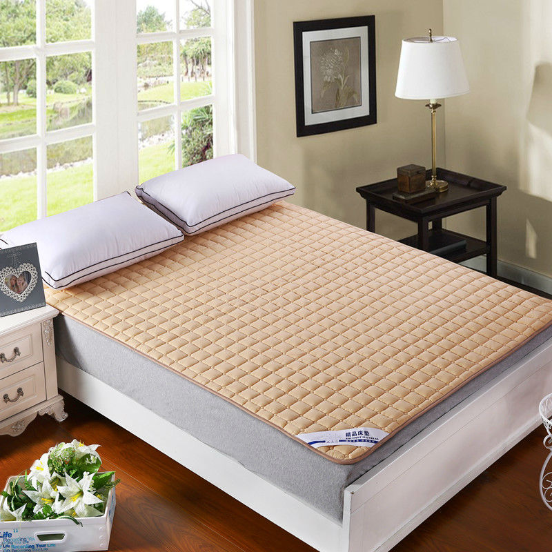 Quilting Mattress Cover Solid Multicolor Sanding Polyester Fabric Twin Single Queen Full Double King Bed Protection Pad