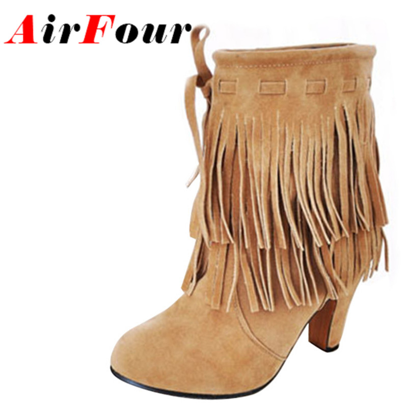 get cheap fringe suede boots aliexpress