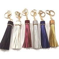 Kwastje lederen sleutelhangers/valentijnsdag geschenk/vrouwen tas charm accessoires/portachiavi donna/chaveiro para carro/groothandel