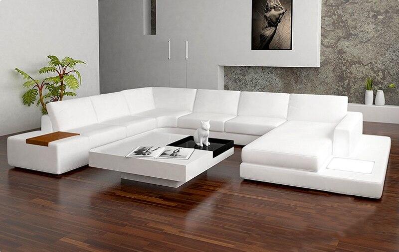 New design sofa U shape sofa sets with led light